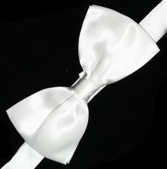 Gyerek szatén csokornyakkendő - Fehér Csokornyakkendő