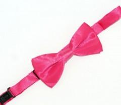 Gyerek szatén csokornyakkendő - Pink