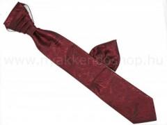 Hosszított francia nyakkendő - Bordó-fekete mintás