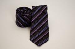 Prémium slim nyakkendő - Lila-rózsaszín csíkos