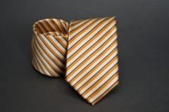 Prémium nyakkendő -  Narancs csíkos