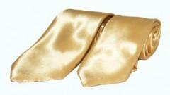 Szatén apa-fia nyakkendő szett - Arany Apa-fia szettek
