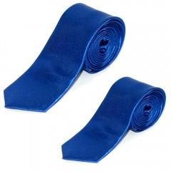 Szatén apa-fia nyakkendő szett - Királykék Apa-fia szettek