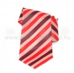 Saint Michael selyem nyakkendő - Piros-bordó csíkos
