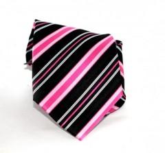 Goldenland nyakkendő - Fekete-pink csíkos