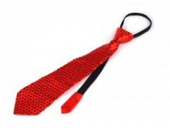 Nyakkendő flitterekkel - Piros Női nyakkendők