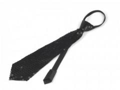 Nyakkendő flitterekkel - Fekete Női nyakkendők
