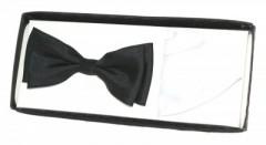 Díszdobozos csokornyakkendő szett - Fekete-fehér