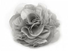 Rózsa kitűző - Szürke