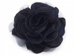 Rózsa kitűző - Sötétkék