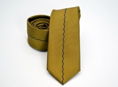 Prémium slim nyakkendő - Mustársárga