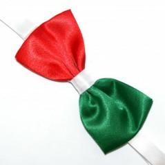 Zsorzsett szatén csokornyakkendő - Tricolor