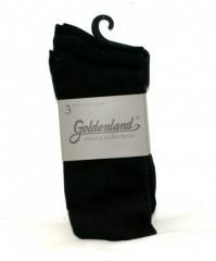 Goldenland 3 db öltönyzokni - Fekete Férfi zoknik, mamuszok