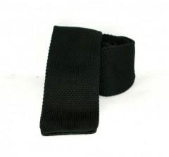 Goldenland slim kötött nyakkendő - Fekete