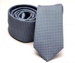 Prémium slim nyakkendő - Kék-fehér pöttyös