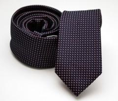 Prémium slim nyakkendő - Sötétlila mintás