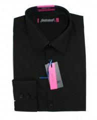 Goldenland body fitt hosszúujjú ing - Fekete