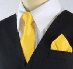 Gyerek nyakkendő szett - Citromsárga Szettek