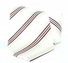 Goldenland nyakkendő - Drapp-piros csíkos