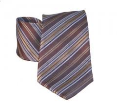 G.L selyemnyakkendő  - Barna-kék csíkos Selyem nyakkendők
