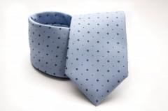 Prémium nyakkendő - Kék aprópöttyös