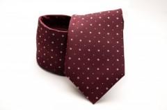 Prémium nyakkendő - Bordó aprópöttyös