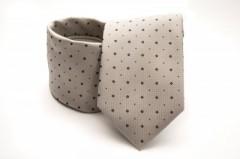 Prémium nyakkendő - Drapp aprópöttyös