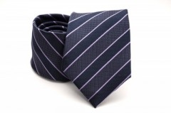 Prémium nyakkendő - Kék-lila csíkos