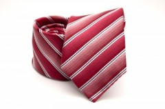 Prémium nyakkendő - Piros-fehér csíkos