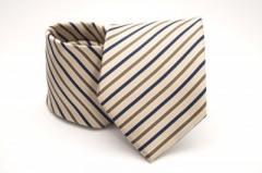 Prémium nyakkendő - Drapp csíkos