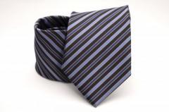 Prémium nyakkendő - Lila-fekete csíkos