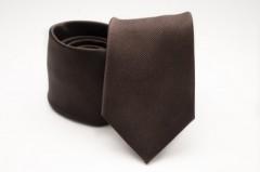 Prémium selyem nyakkendő - Sötétbarna Selyem nyakkendők