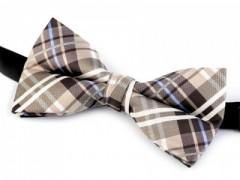 Dobozos csokornyakkendő - Barna kockás Csokornyakkendők