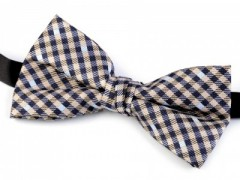 Dobozos csokornyakkendő - Barna-kék kockás Csokornyakkendők