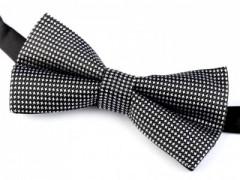 Dobozos csokornyakkendő - Fekete tyúkláb mintás Csokornyakkendők