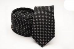 Prémium slim nyakkendő - Fekete mintás