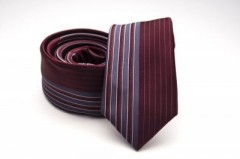 Prémium slim nyakkendő - Bordó csíkos