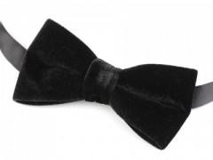 Bársony csokornyakkendő - Fekete