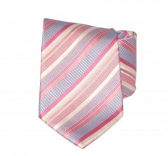 G.L selyemnyakkendő  - Rózsaszín csíkos Selyem nyakkendők