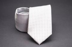 Prémium nyakkendő -  Fehér-ezüst pöttyös