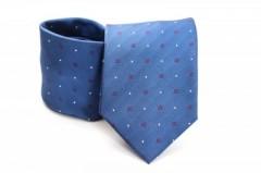 Prémium nyakkendő - Kék aprókockás