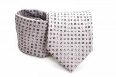 Prémium nyakkendő - Szürke kockás Kockás nyakkendők