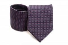 Prémium nyakkendő - Piros-kék mintás