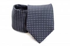 Prémium nyakkendő - Acélkék pöttyös