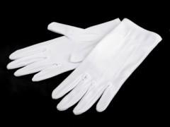 Férfi szatén kesztyű - Fehér Kesztyű