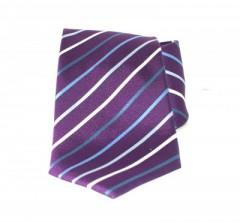 Saint Michael selyem nyakkendő - Lila csíkos