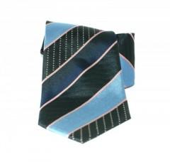 Saint Michael selyem nyakkendő - Kék-fekete csíkos