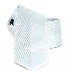 Goldenland slim nyakkendő - Ezüst pöttyös