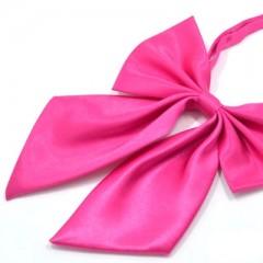 Szatén női csokornyakkendő - Pink