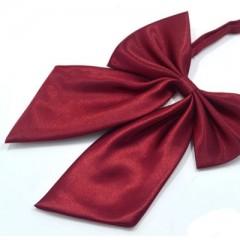 Szatén női csokornyakkendő - Bordó